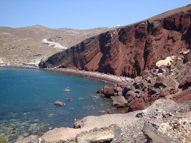 Santorini's Red Beach Akrotiri
